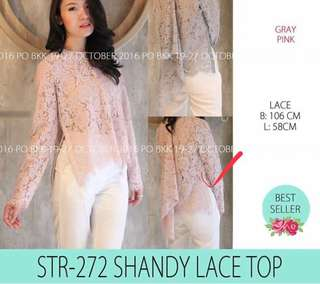 Top lace pink