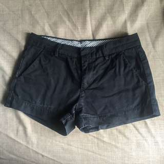 Uniqlo black chino shorts