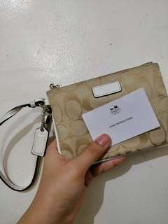 Authentic Coach Fabric Wristlet