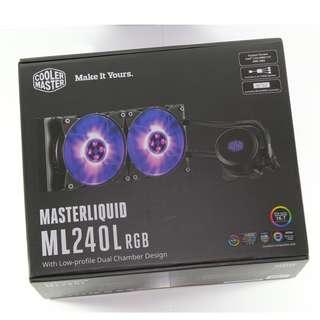 酷媽 COOLMASTER MasterLiquid Lite 系列 MasterLiquid ML240L RGB 散熱器 水冷散熱器 低噪音散熱器