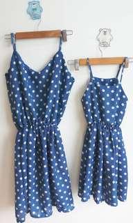 Mom&Baby Polka Dresses