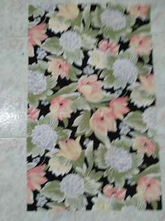Floral thick cotton fabric