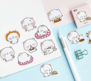🚚 Fatty Teddy Scrapbook / Planner Stickers #179