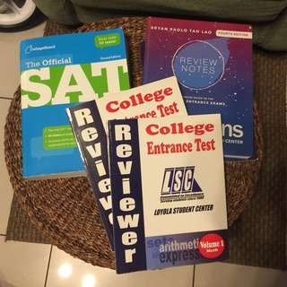COLLEGE ENTRANCE REVIEWER BUNDLE (LSC Review, Athens Review Notes, SAT Study Guide)