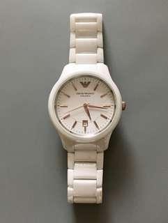 🈹🈹Armani watch 手錶 白陶瓷 Ceramica