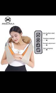 Angelruila U Shape Car/Home Neck Massager Electrical Shiatsu Shoulder Back Body Massagers Infrared 3D Massagem Flat EU Plug