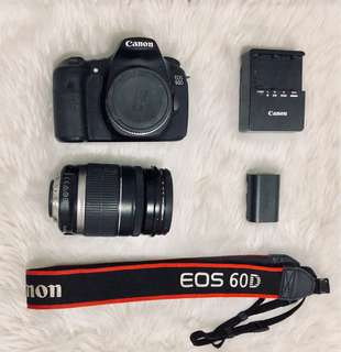 Canon EOS 60D with 18-200mm IS Lens