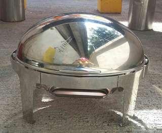 不銹鋼自助餐盤,圓形方形各2個,每個$300