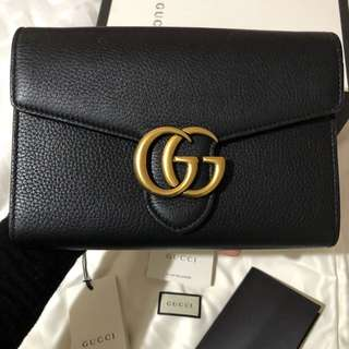 AUTHENTIC Gucci Marmont Wallet on Chain