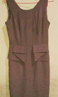 Dress warna sand untuk kerja