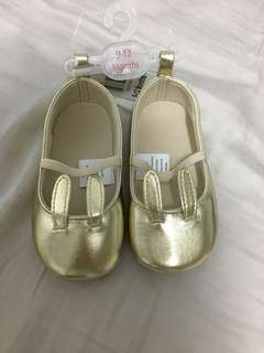 Gold Bunny Shoes for Girls