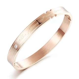 🚚 韓版玫瑰金鈦鋼手環(全新)