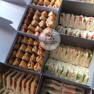Assorted sandwiches