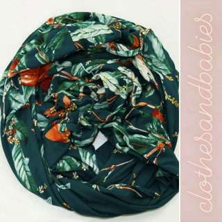 Green Leafy Infinity Scarf for only P349