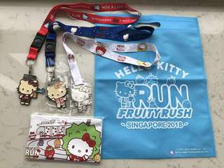 Hello Kitty Run 2018 with M size t-shirt