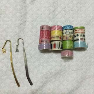 Washi tapes and metal bookmarks