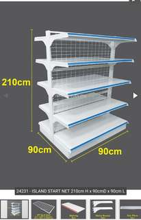 5-tiers 7 ft Island Gondola (Double Facing) for Retail Display Shelves