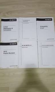 A LEVEL H2 MATHEMATICS RMSS TOPICAL BOOKS