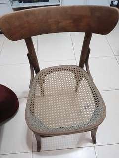 2pcs per set Antique Vintage Solid Wooden Dining Chair
