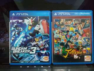 Ps Vita Games - Gundam breaker 3, J-stars vs+
