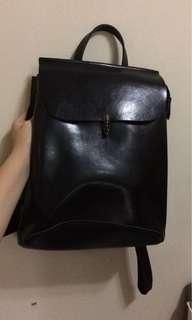 韓國文青皮革背包