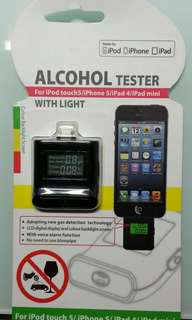 Alcohol Tester 酒精呼氣測試儀器 for iPhone X /8/7/6/5, iPod touch5, iPad mini air  Lightning 插頭