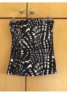 H&M abstract tube top