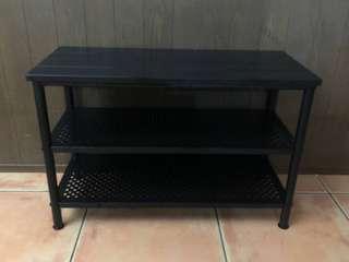 IKEA side table shoe rack
