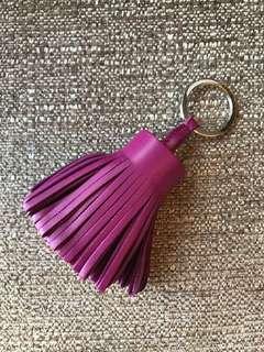 全新 Hermes Carmen 紫桃紅色 Tosca Purple Pink Leather Keyholder Bag Charm