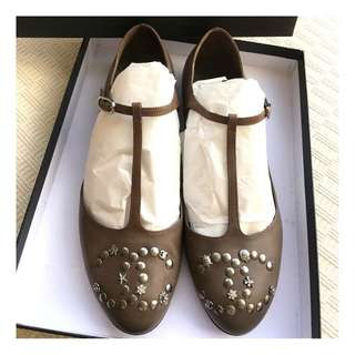 Chanel  T-strape ballerina shoes  @@  Made in Italy, Size 38  @@