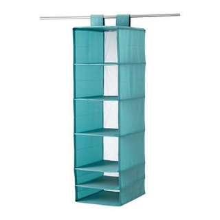 2⃣️🖐🏻IKEA SKUBB 衣櫥內土耳其藍六格收納掛袋