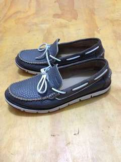 Geox Respira Leather Slip On Shoes