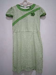 Mini dress brokat