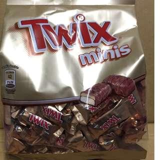 🚚 有效期限 2018.10 twix minis 特趣 迷你巧克力 9.2gx128條 costco 代購 好市多