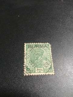 早期印度郵票加蓋緬甸