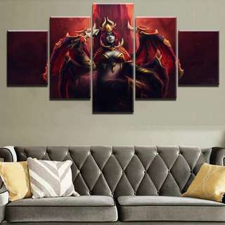 Dota 2 Queen Of Pain Canvas Print