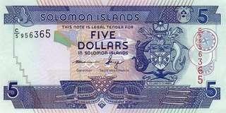 Solomon Island 5 Dollars