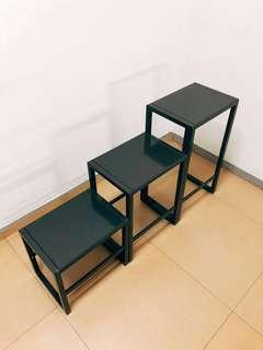 Premium Metallic Finish Modern Coffee Table, iPad Stand