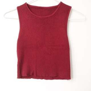 Ribbed Knit Crop Top