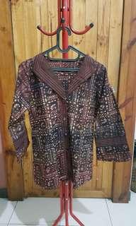Brown Batik Blouse