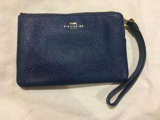 Coach Blue Wristlet almost new