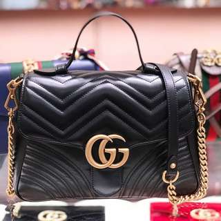 ✨全新現貨Gucci 郵差包 GG marmont top handle✨
