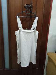 White pinafore dress