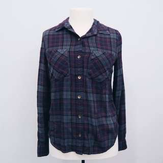 *REDUCED* Purple Plaid Flannel || forever 21