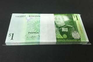 🚚 100 PCS NATIONAL RESERVE BANK OF TONGA 1 Pa'anga 2009 Bundle Stack Original UNC