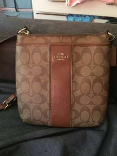 Original coach north/south sling bag