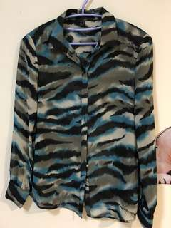 🚚 Esprit 雪紡襯衫