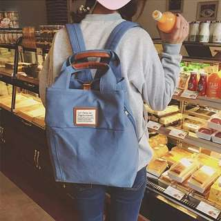 Canvas Anti-theft female backpack
