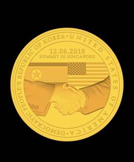 Donald Trump and Kim Jong Un Singapore Summit Gold Coin