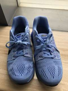 Nike Womens Lunarglide Running Training Shoes Blue size 37.5